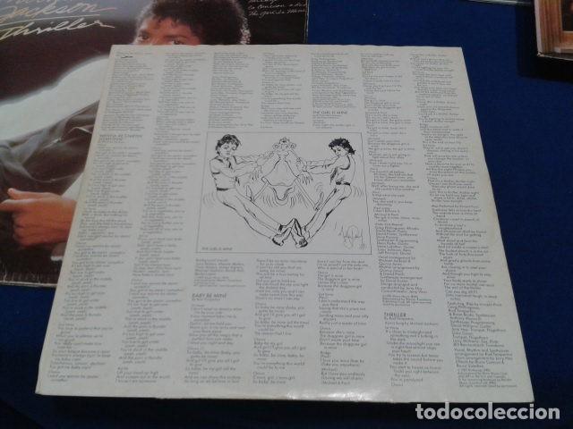 Discos de vinilo: LP VINILO ( MICHAEL JACKSON - THRILLER ) 1982 CBS ESPAÑA DOBLE CARPETA Y ENCARTE CON LAS LETRAS - Foto 5 - 114268475