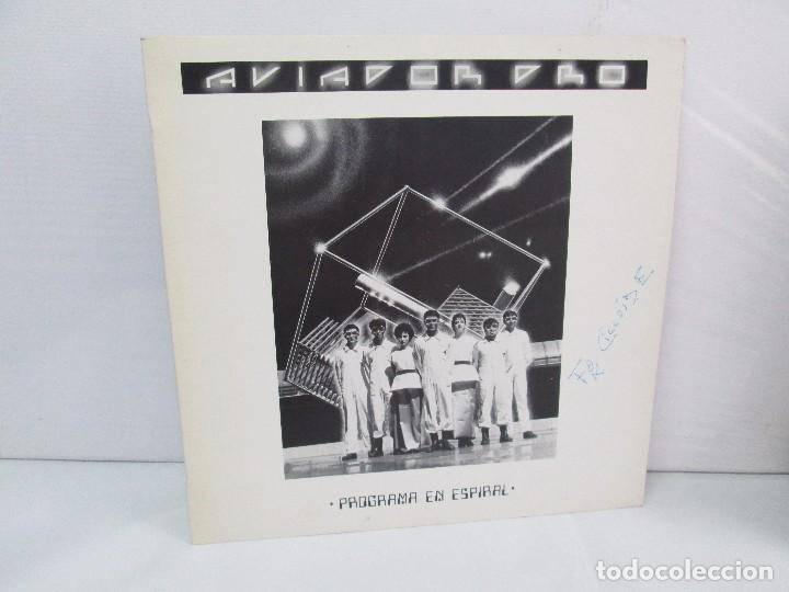 AVIADOR DRO. FIRMADO POR LOS COMPONENTES DEL GRUPO. LP. VINILO MAXI-SINGLE 1982 (Música - Discos de Vinilo - Maxi Singles - Electrónica, Avantgarde y Experimental)
