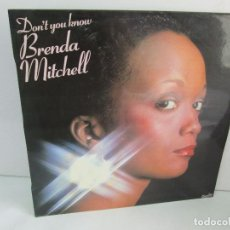 Discos de vinilo: DON´T YOU KNOWW. BRENDA MITCHELL. LP VINILO. MOVIEPLAY 1979. VER FOTOGRAFIAS. Lote 114274955