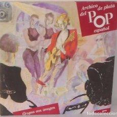 Discos de vinilo: ARCHIVO DE PLATA DEL POP ESPAÑOL - MECANO,ALASKA, RADIO FUTURA HISPAVOX 2 LP´S - 1990 GAT. Lote 114282079