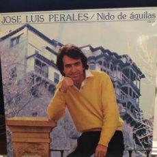 Discos de vinilo: JOSE LUIS PERALES-NIDO DE AGUILAS-HISPAVOX 1981-ENCARTE-EXCELENTE. Lote 114292316