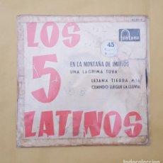 Discos de vinilo: EP - LOS 5 LATINOS - EN LA MONTAÑA DE IMITTOS +3 - FONTANA 467 203 TE - 1961. Lote 114308135
