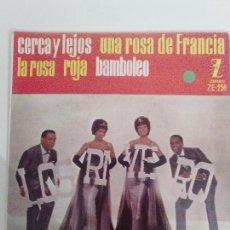 Discos de vinilo: LOS RIVERO CERCA Y LEJOS / UNA ROSA DE FRANCIA / LA ROSA ROJA / BAMBOLEO ( 1961 ZAFIRO ESPAÑA ). Lote 114310439