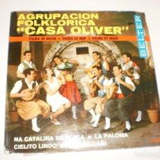 Disques de vinyle: SINGLE CASA OLIVER. NA CATALINA DE PLAÇA + 3 TEMAS. BELTER 1967 SPAIN (PROBADO Y BIEN). Lote 114311263