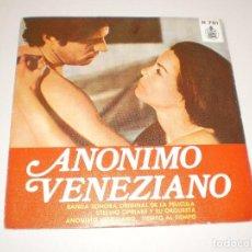 Discos de vinilo: SINGLE ANÓNIMO VENEZIANO. TIEMPO AL TIEMPO. HISPAVOX 1971 SPAIN (DISCO PROBADO Y BIEN). Lote 114312355