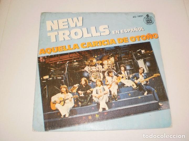 SINGLE NEW TROLLS. AQUELLA CARICIA DE OTOÑO. ALDEBARÁN. HISPAVOX 1979 SPAIN (PROBADO Y BIEN) (Música - Discos - Singles Vinilo - Pop - Rock - Extranjero de los 70)