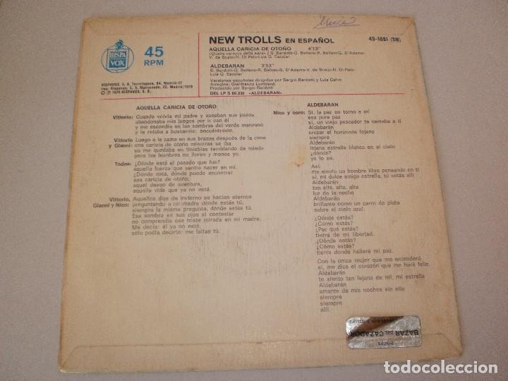 Discos de vinilo: single new trolls. aquella caricia de otoño. aldebarán. hispavox 1979 spain (probado y bien) - Foto 2 - 114313643