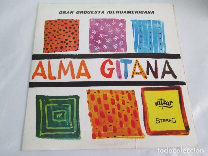 Discos de vinilo: ALMA GITANA. GRAN ORQUESTA IBEROAMERICANA. LP VINILO. MIZAR 1987. VER FOTOGRAFIAS - Foto 2 - 114319511
