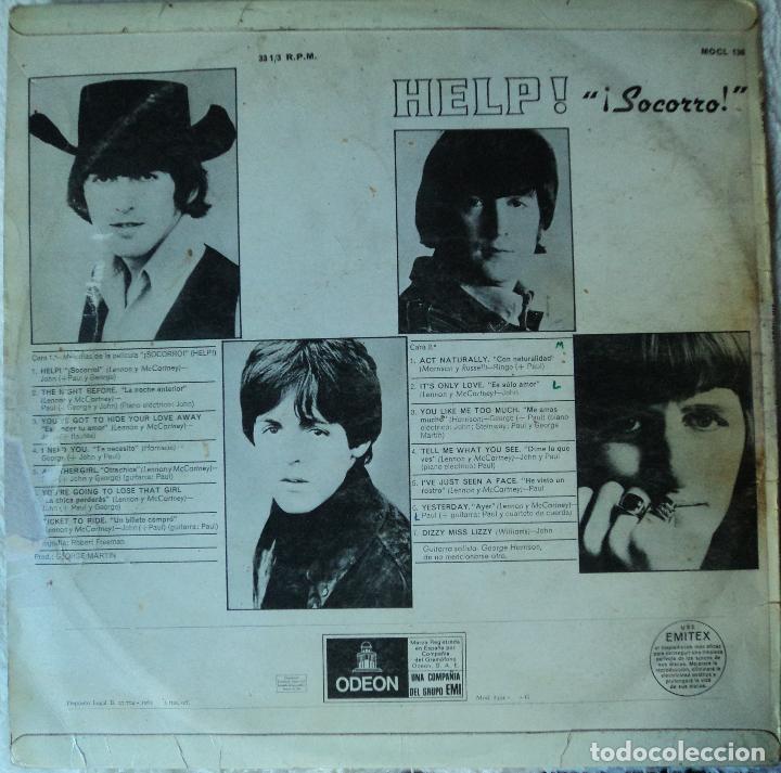 Discos de vinilo: The Beatles - Help - 2.ª Edición de 1965 de España (1 Referencia) - Foto 2 - 114329639