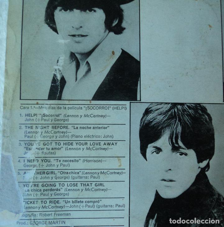 Discos de vinilo: The Beatles - Help - 2.ª Edición de 1965 de España (1 Referencia) - Foto 3 - 114329639