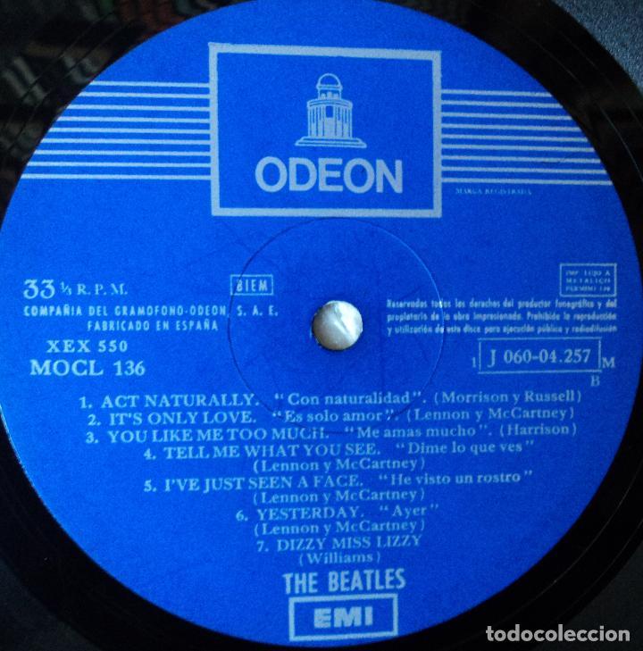 Discos de vinilo: The Beatles - Help - 2.ª Edición de 1965 de España (1 Referencia) - Foto 6 - 114329639