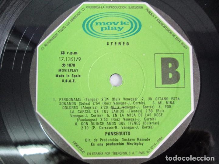 Discos de vinilo: PANSEQUITO. LP VINILO. MOVIEPLAY. 1978. VER FOTOGRAFIAS ADJUNTAS - Foto 6 - 114342559