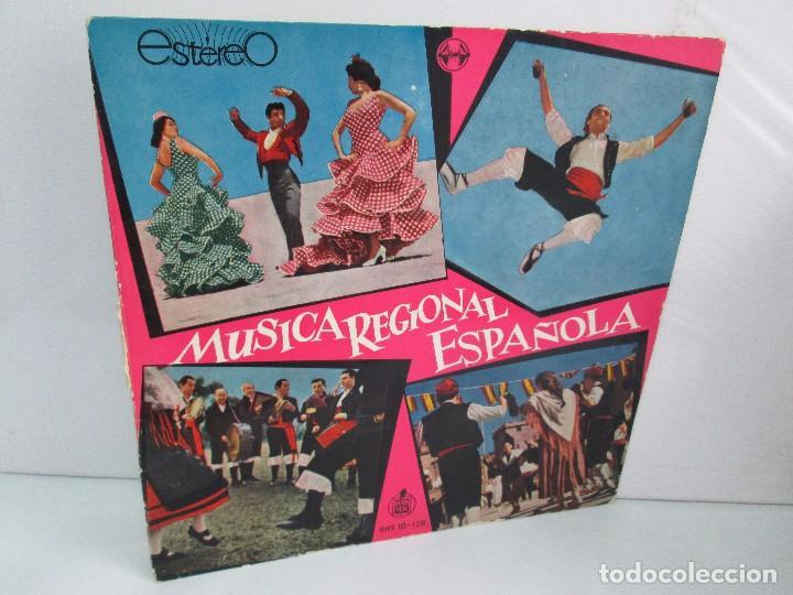 MUSICA REGIONAL ESPAÑOLA. LP VINILO. HISPAVOX. 1959. VER FOTOGRAFIAS ADJUNTAS (Música - Discos - LP Vinilo - Étnicas y Músicas del Mundo)