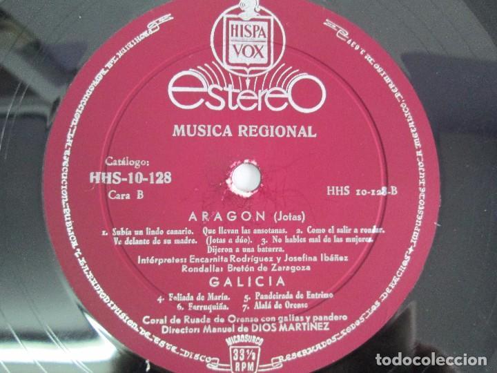 Discos de vinilo: MUSICA REGIONAL ESPAÑOLA. LP VINILO. HISPAVOX. 1959. VER FOTOGRAFIAS ADJUNTAS - Foto 6 - 114346915