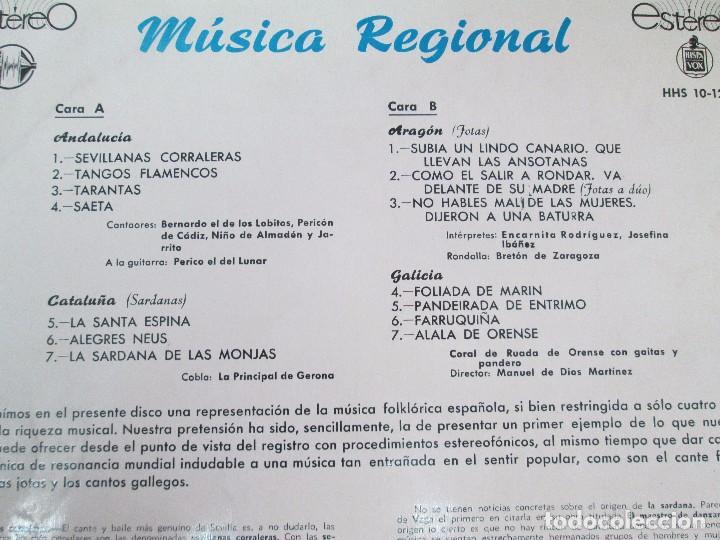 Discos de vinilo: MUSICA REGIONAL ESPAÑOLA. LP VINILO. HISPAVOX. 1959. VER FOTOGRAFIAS ADJUNTAS - Foto 7 - 114346915