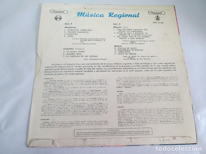 Discos de vinilo: MUSICA REGIONAL ESPAÑOLA. LP VINILO. HISPAVOX. 1959. VER FOTOGRAFIAS ADJUNTAS - Foto 8 - 114346915