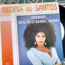 Discos de vinilo: SINGLE (VINILO) DE REGINA DOS SANTOS AÑOS 90. Lote 114356935