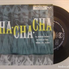 Discos de vinilo: VARIOS -ERNESTO DUARTE Y SU ORQ. / NORO MORALES / ORQUESTA ALMENDRA - CHA CHA CHA - EP ESPAÑOL - RCA. Lote 114357287