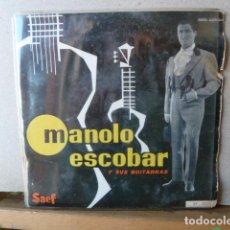 Discos de vinilo: MANOLO ESCOBAR -SOLO PORTADA EP MUY RARO -SOLO PORTADA. Lote 114376839