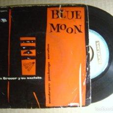 Discos de vinilo: JOCHEN BRAUER-SEXTETT - BLUE MOON - SINGLE ESPAÑOL 1961 - VERGARA. Lote 114388211