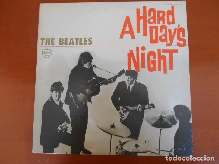 F-461- DISCO VINILO LP JAPONÉS THE BEATLES QUE NOCHE LA DE AQUEL DÍA. A HARD DAY´S NIGHT (Música - Discos - LP Vinilo - Pop - Rock Extranjero de los 50 y 60)