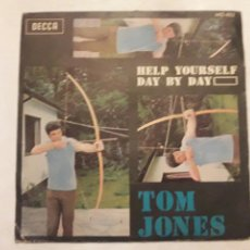 Discos de vinilo: DISCO VINILO TOM JONES. HELP YOURSELF. DAY BY DAY.. Lote 114395971
