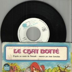 Discos de vinilo: LE CHAT BOTTE DISCO CUENTO JEAN LEMAITRE.FRANCIA. Lote 114397883