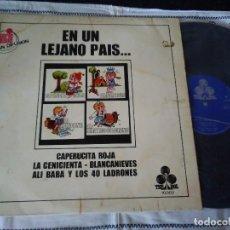Discos de vinilo: 13-LP CUENTOS INFANTILES, EN UN LEJANO PAIS, SERIE 10000, 1970. Lote 114399651