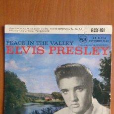 Disques de vinyle: ELVIS PRESLEY - PEACE IN THE VALLEY - EP -. Lote 114422043