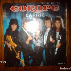 Discos de vinilo: EUROPE - CARRIE + LOVE CHASER . Lote 114429659