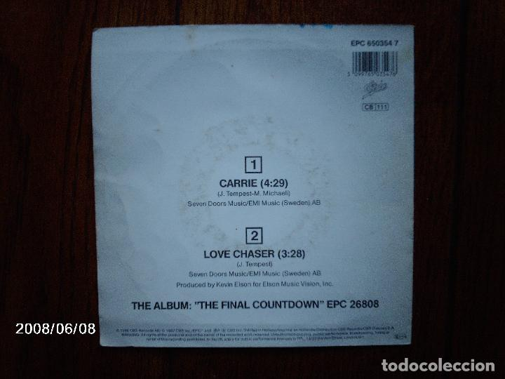 Discos de vinilo: europe - carrie + love chaser - Foto 2 - 114429659