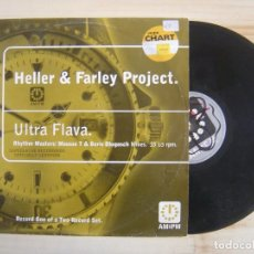 Discos de vinilo: HELLER & FARLEY PROJECT - ULTRA FLAVA - MAXISINGLE 33 UK - 1996 - JUNIOR. Lote 114450667