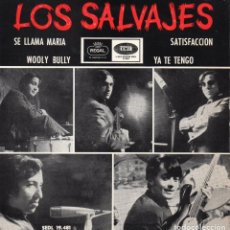 Discos de vinilo: SALVAJES, EP, SE LLAMA MARÍA + 3, AÑO 1965. Lote 114456223