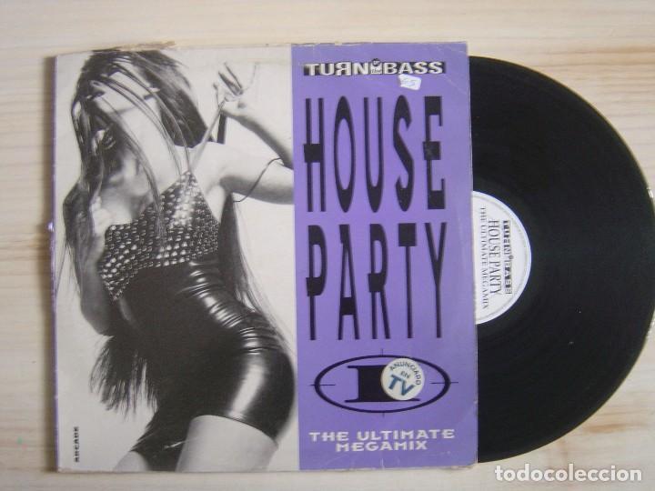 HOUSE PARTY I - THE ULTIMATE MEGAMIX - LP DOBLE 1992 - TURN (Música - Discos - LP Vinilo - Techno, Trance y House)