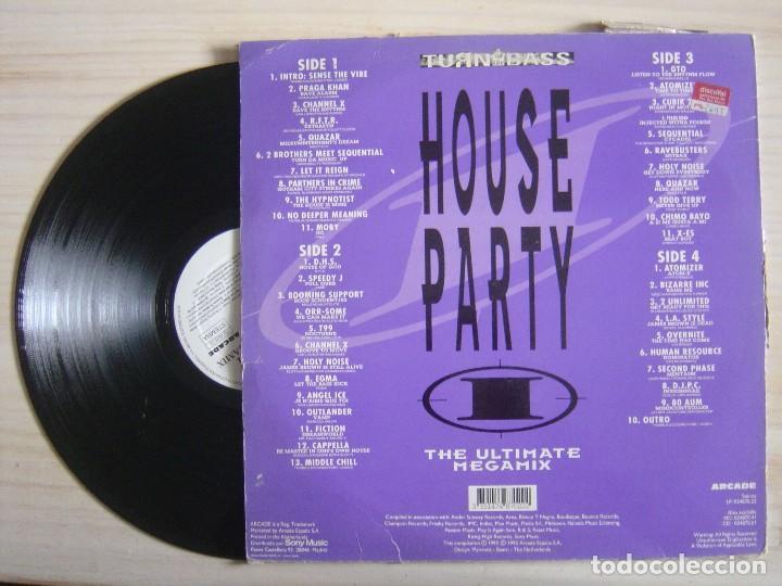 Discos de vinilo: HOUSE PARTY I - The Ultimate Megamix - LP DOBLE 1992 - TURN - Foto 2 - 114463967