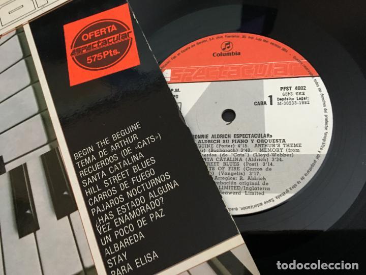 Discos de vinilo: RONNIE ALDRICH LP ESPAÑA 1982 (VIN-W) - Foto 2 - 114488971