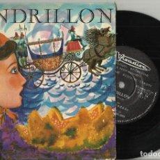 Discos de vinilo: CENDRILLON SINGLE DISCO CUENTO FRANCIA. Lote 114489087