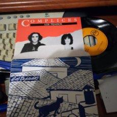 Discos de vinilo: FOLDER Y SINGLE COMPLICES LOS TEJADOS 1990. Lote 114489863