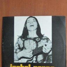 Discos de vinilo: ISABEL PARRA – ISABEL PARRA VOL. I - PEÑA DE LOS PARRA - URUGUAY. Lote 114490195