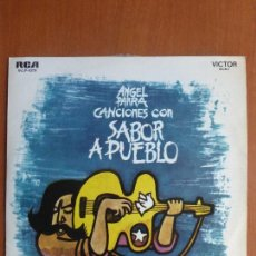 Discos de vinilo: ANGEL PARRA – CANCIONES CON SABOR A PUEBLO - VINYL, LP, ALBUM - URUGUAY. Lote 114490275