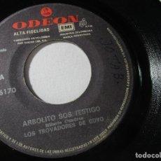 Discos de vinilo: LOS TROVADORES DE CUYO 45RPM Z4. Lote 114494763