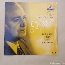 Discos de vinilo: EP - BENIAMINO GIGLI - LA BOHEME +3 - LA VOZ DE SU AMO 7ERL 1.299 - 1958. Lote 114511171