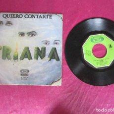 Discos de vinilo: TRIANA QUIERO CONTARTE VUELTA A LA SOMBRA Y LA LUZ 1979 SINGLE VINILO. Lote 114513171