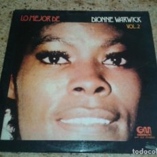 Discos de vinilo: VINILO LO MEJOR DE DIONNE WARWICK VOL.2. Lote 114523543