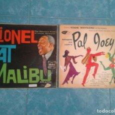 Discos de vinilo: 2 VINILOS LIONEL AT MALIBU Y EDDIE MAYNARD. Lote 114536243