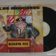 Discos de vinilo: LOS INHUMANOS - ALELUYA MIX - MAXISINGLE 45 - 1991 - ZAFIRO. Lote 114538659