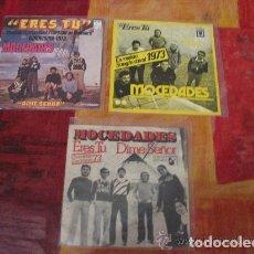 Discos de vinilo: MOCEDADES / LOTE 3 SINGLE 45 RPM ( EUROVISION ) ERES TU . Lote 114543175