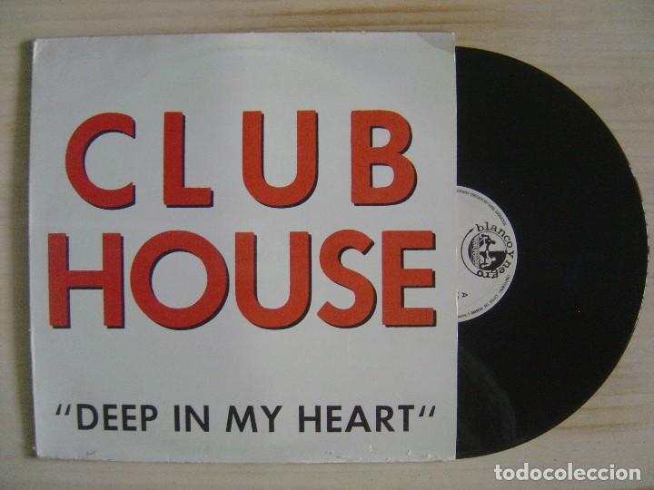 CLUB HOUSE DEEP - IN MY HEART - MAXISINGLE 45 - ESPAÑOL 1991 - BLANCO Y NEGRO (Música - Discos de Vinilo - Maxi Singles - Techno, Trance y House)