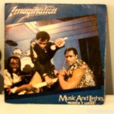 Discos de vinilo: IMAGINATION MUSIC AND LIGHTS. Lote 114569563