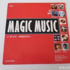 Discos de vinilo: MAGIC MUSIC RECOPILATORIO 2LP ED. ALEMANA CBS 1988 SINEAD O´CONNOR GLORIA ESTEFAN ERASURE BOY GEORGE. Lote 114593027